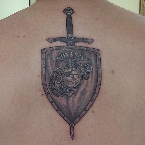 Wonderful Marine Corps Tattoos Design
