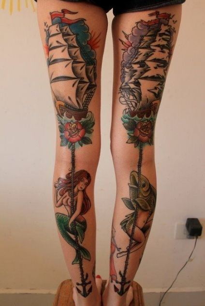 Back Thigh Tattoos