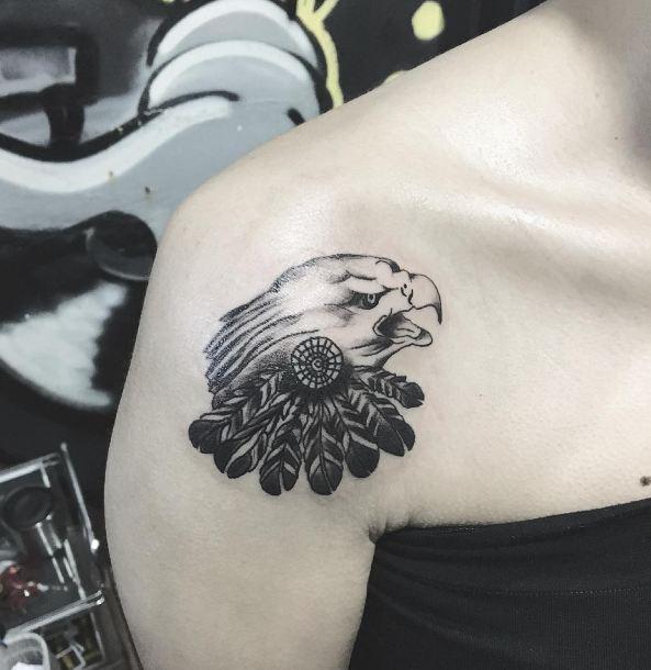 Best Eagle Tattoos On Shoulder
