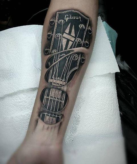 Best Guitar Tattoos On Forearm