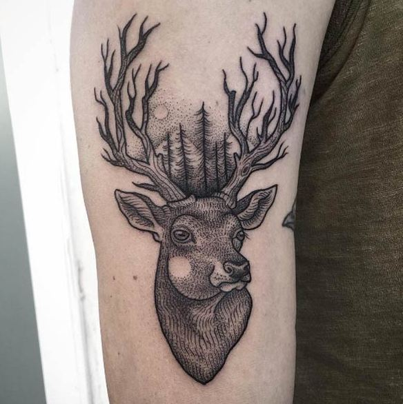Best Stag Tattoos