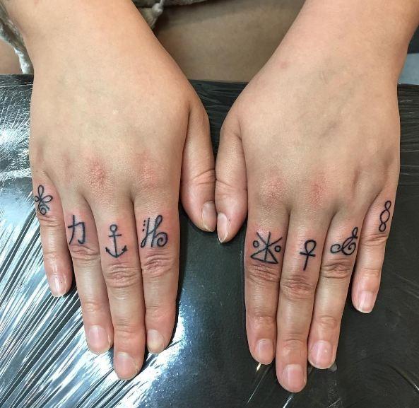 Best Symbol Tattoos On Knuckle