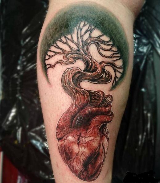 Best Tree Tattoos On Calf
