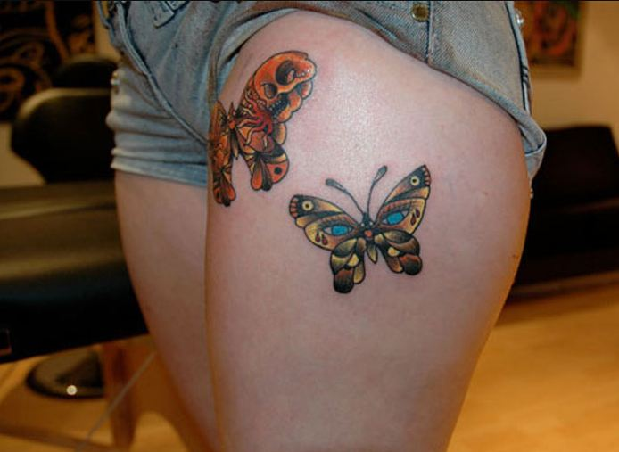 Butterfly Thigh Tattoos