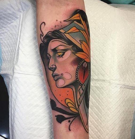 Colorful Geometric Tattoos
