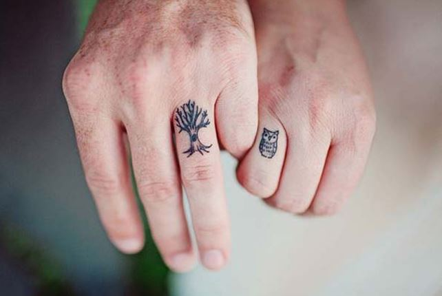 Couples Finger Tattoos