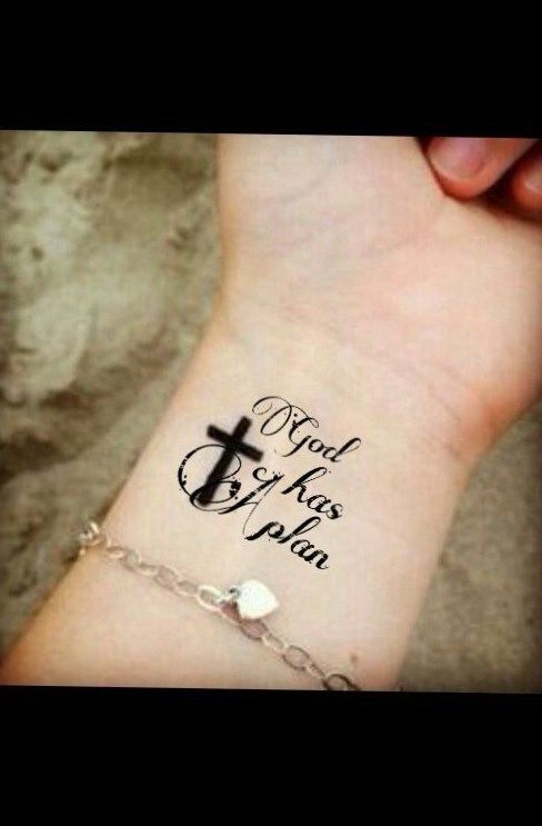 Cross With Banners Tattoos (4)