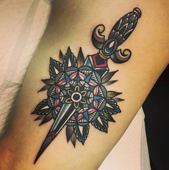 Dagger Mandala Tattoos