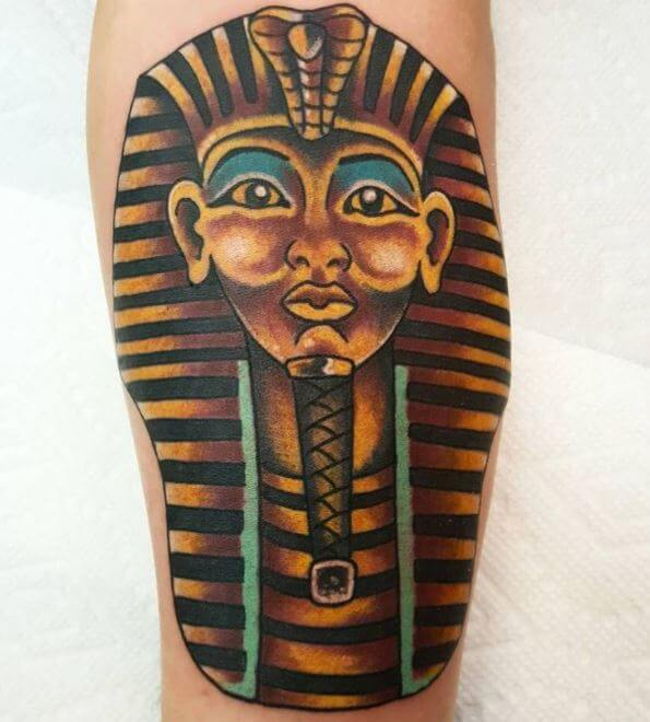 Egyptian Leg Tattoos Design