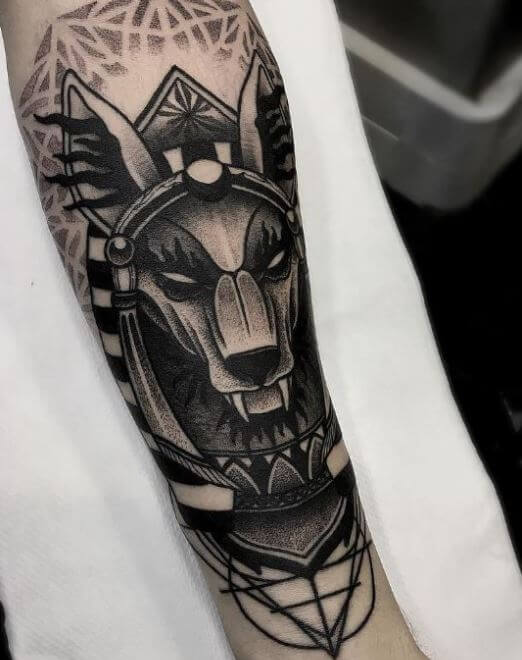 Egyptian Dog Tattoo
