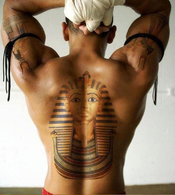 Egyptian Full Back Tattoos