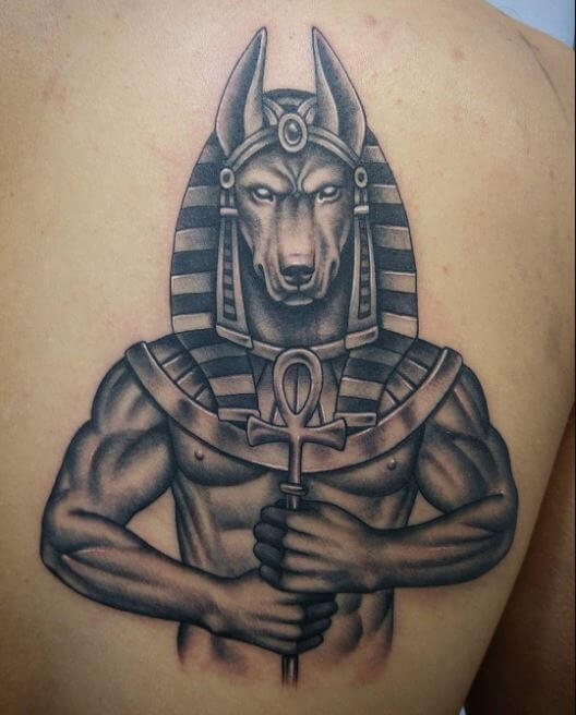 Egyptian God Tattoos On Thigh
