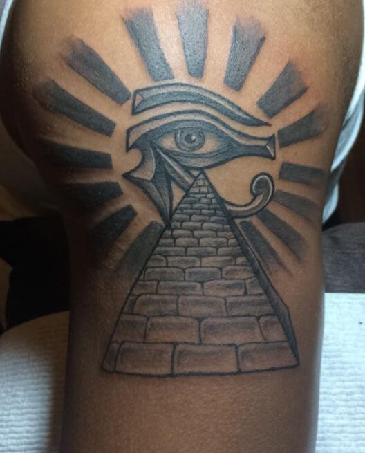 Egyptian Pyramid Tattoo