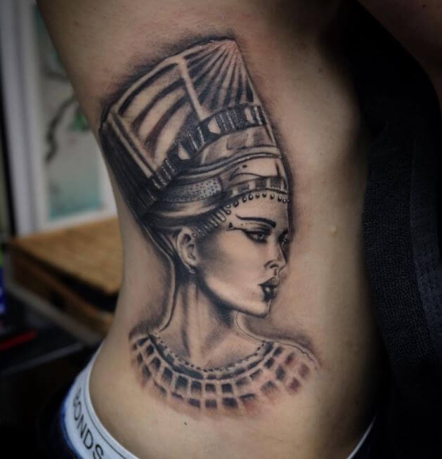Egyptian Queen Tattoo For Girl