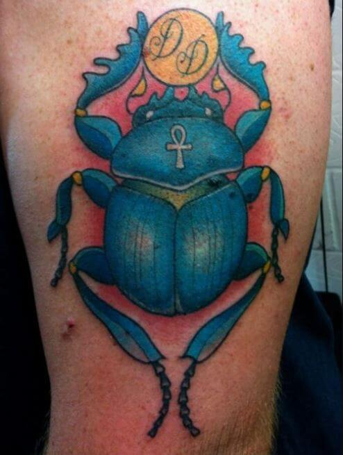 Egyptian Scarab Tattoo