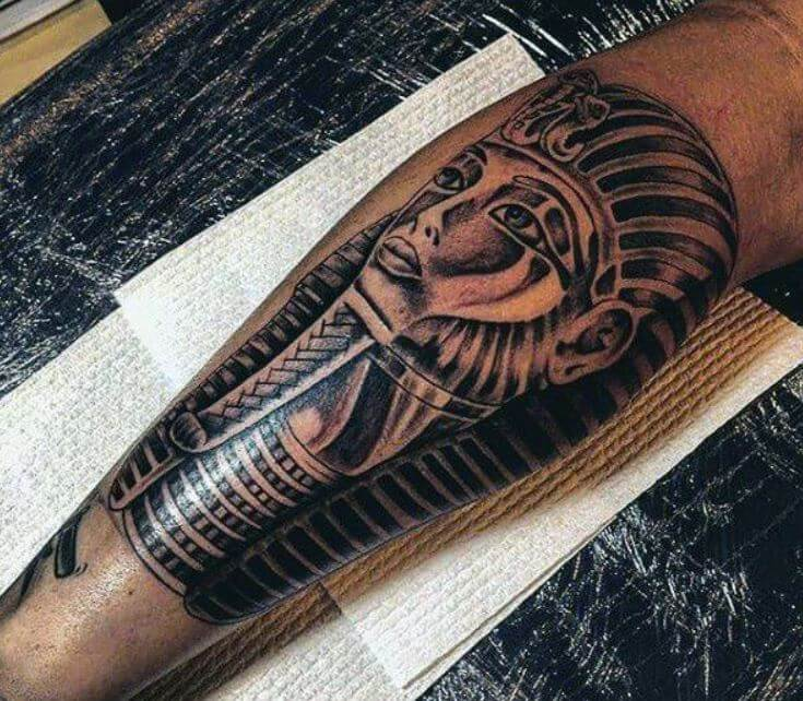 Egyptian Tattoos On Calf