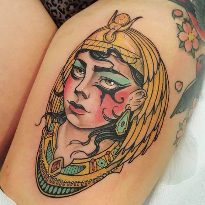 Egyptian Thigh Tattoos