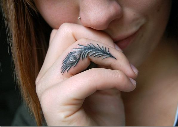Feather Finger Tattoos