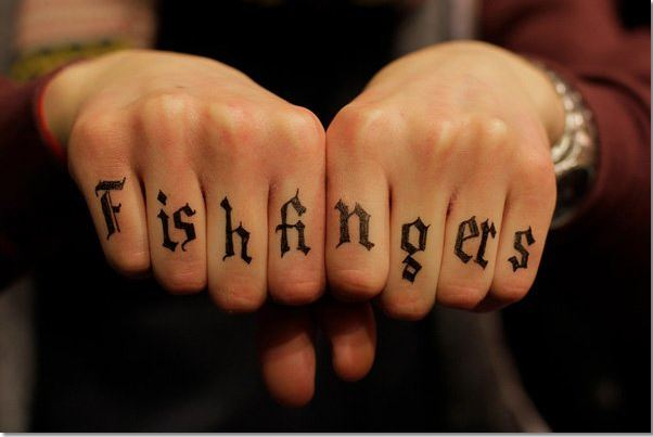 Finger Word Tattoos