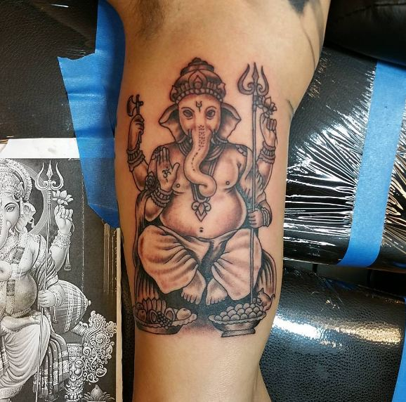 Ganesha Bicep Tattoos Pictures