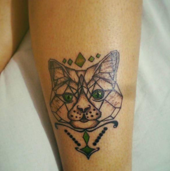 Geometric Cat Tattoos
