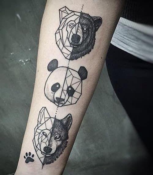 Geometric Flower Tattoo Designs (1)