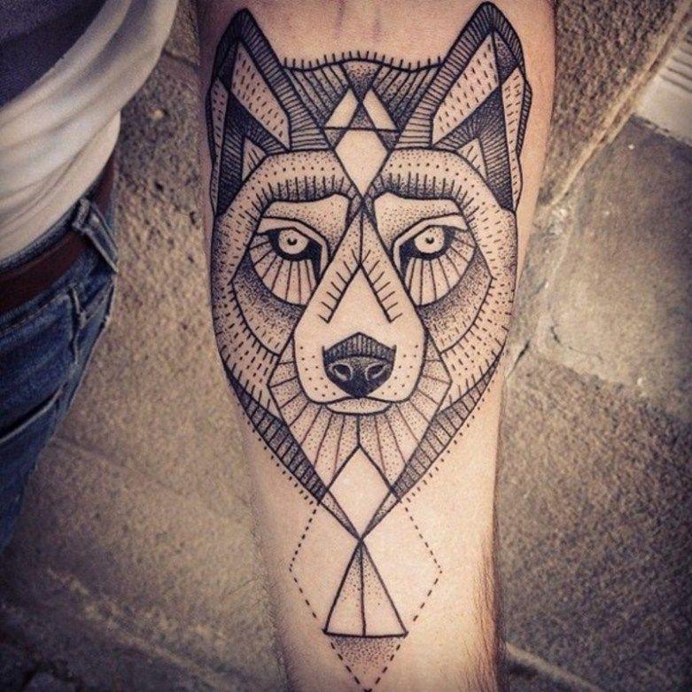 Geometric Flower Tattoo Designs (11)