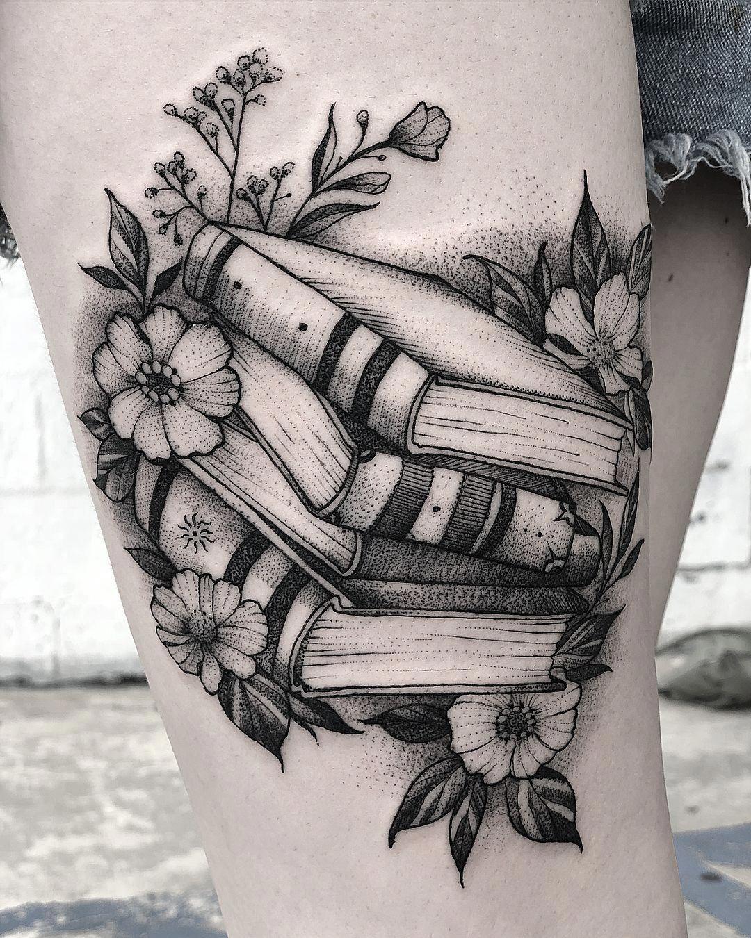 Geometric Flower Tattoo Designs (4)