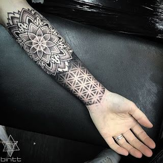 Geometric Flower Tattoo Designs (5)