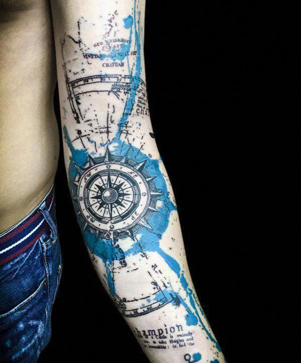 Geometric Half Sleeve Tattoos (2)