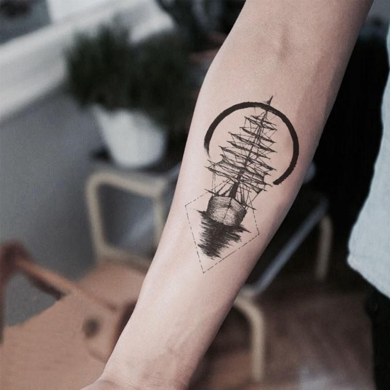 Geometric Half Sleeve Tattoos (3)