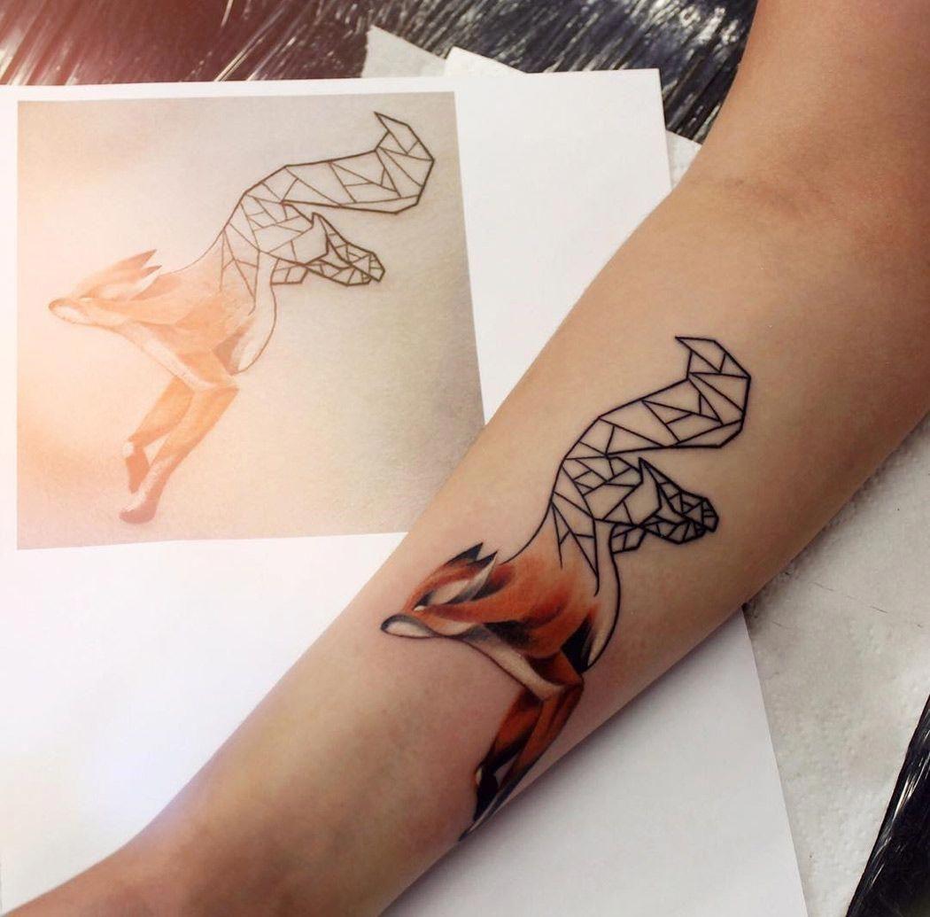 Geometric Half Sleeve Tattoos (4)
