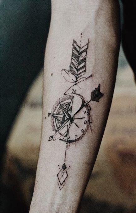 Geometric Half Sleeve Tattoos (9)