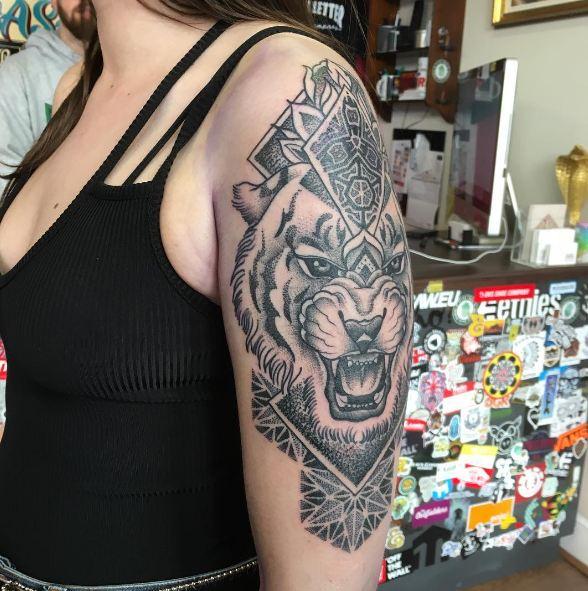 Geometric Half Sleeve Tattoos