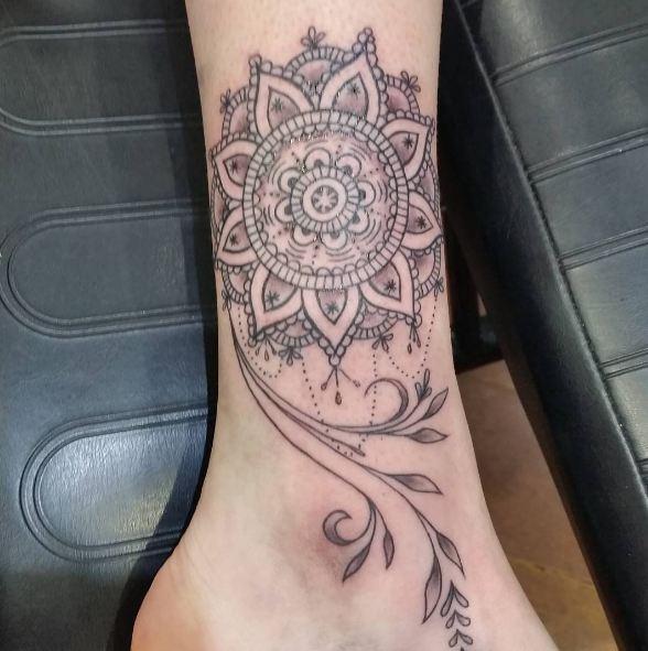 Geometric Leg Tattoos