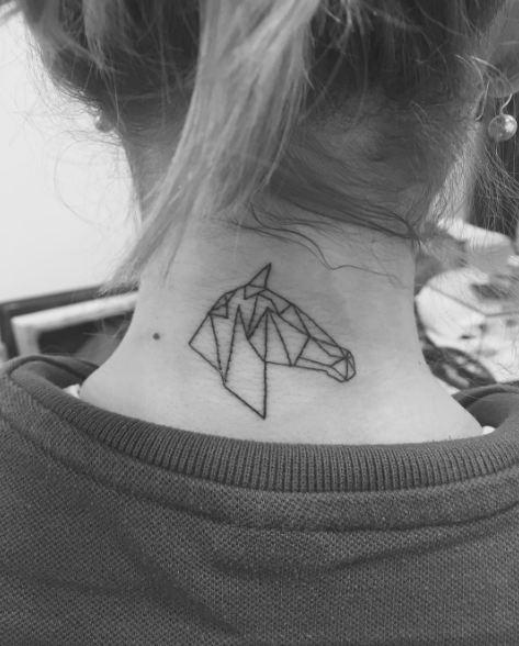 Geometric Neck Tattoos