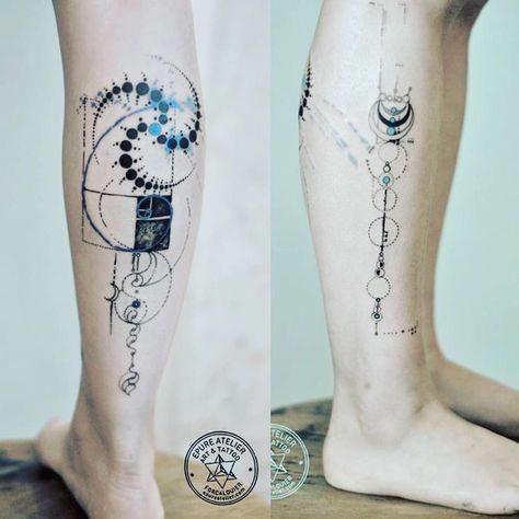 Geometric Pattern Tattoo Designs (7)