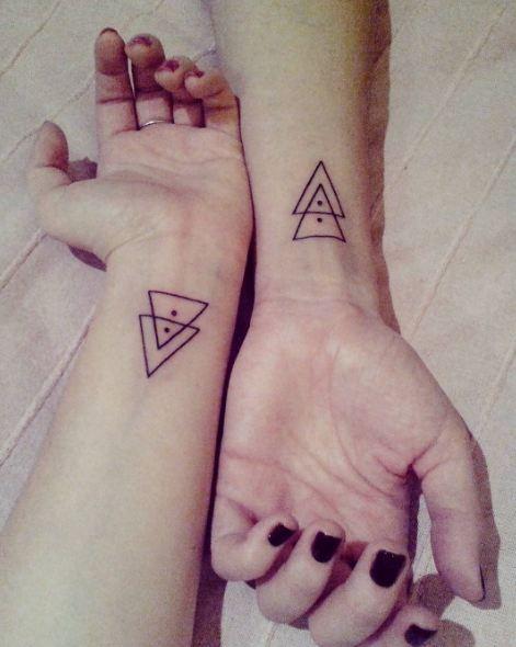 Geometric Wrist Tattoos