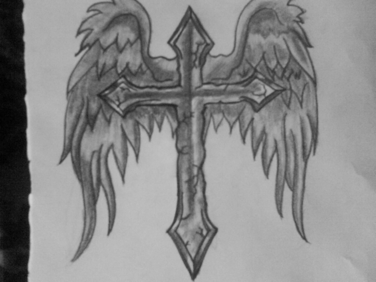 Half Sleeve Cross Tattoo (6)