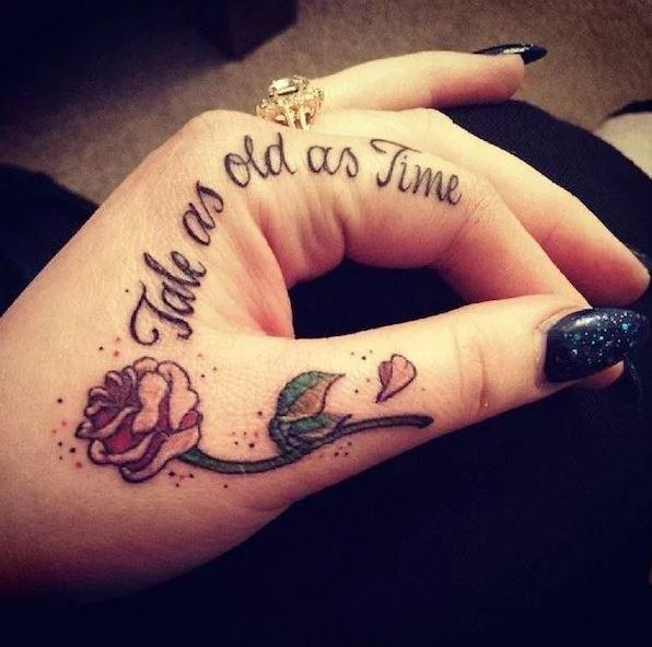 Inside Finger Tattoos