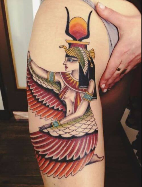 Isis Egyptian Goddess Tattoo