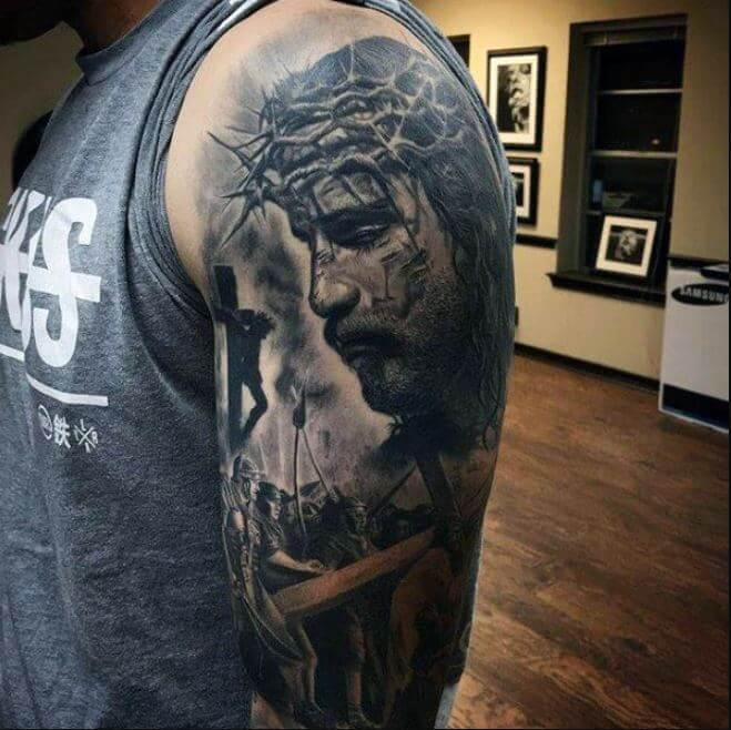 Jesus 3d Tattoos