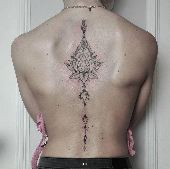 Kanji Spine Tattoos