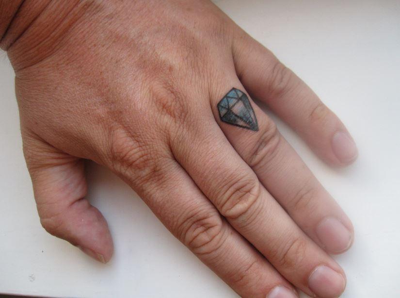 Man Finger Tattoos