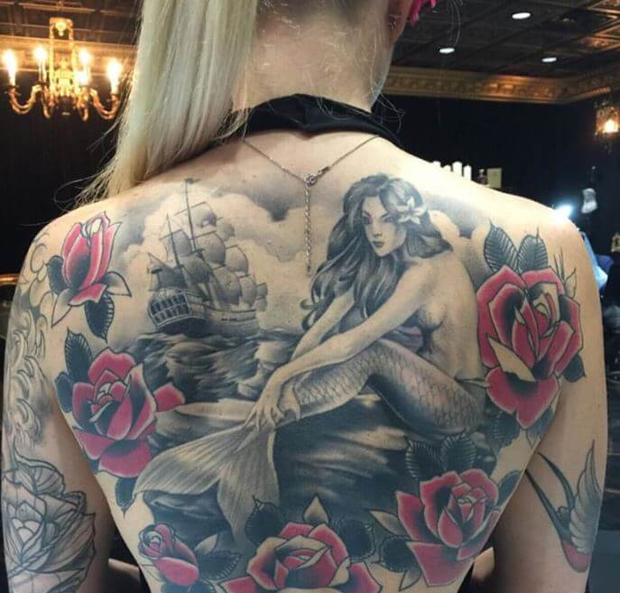Mermaid Back Tattoos