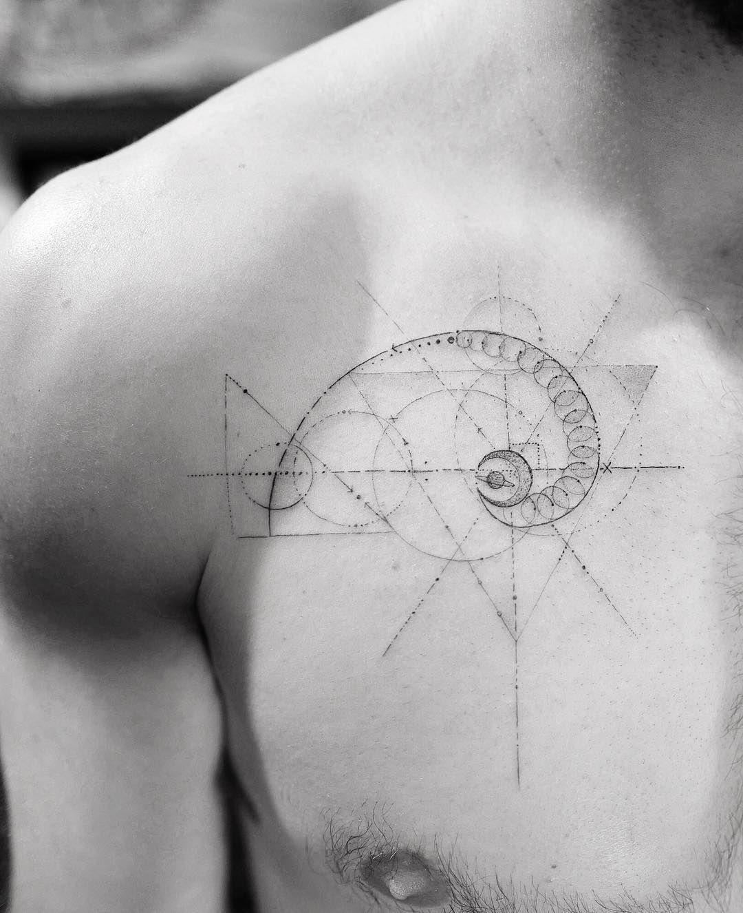 Minimalist Geometric Tattoos (18)