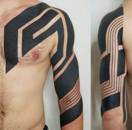 Minimalist Geometric Tattoos (19)