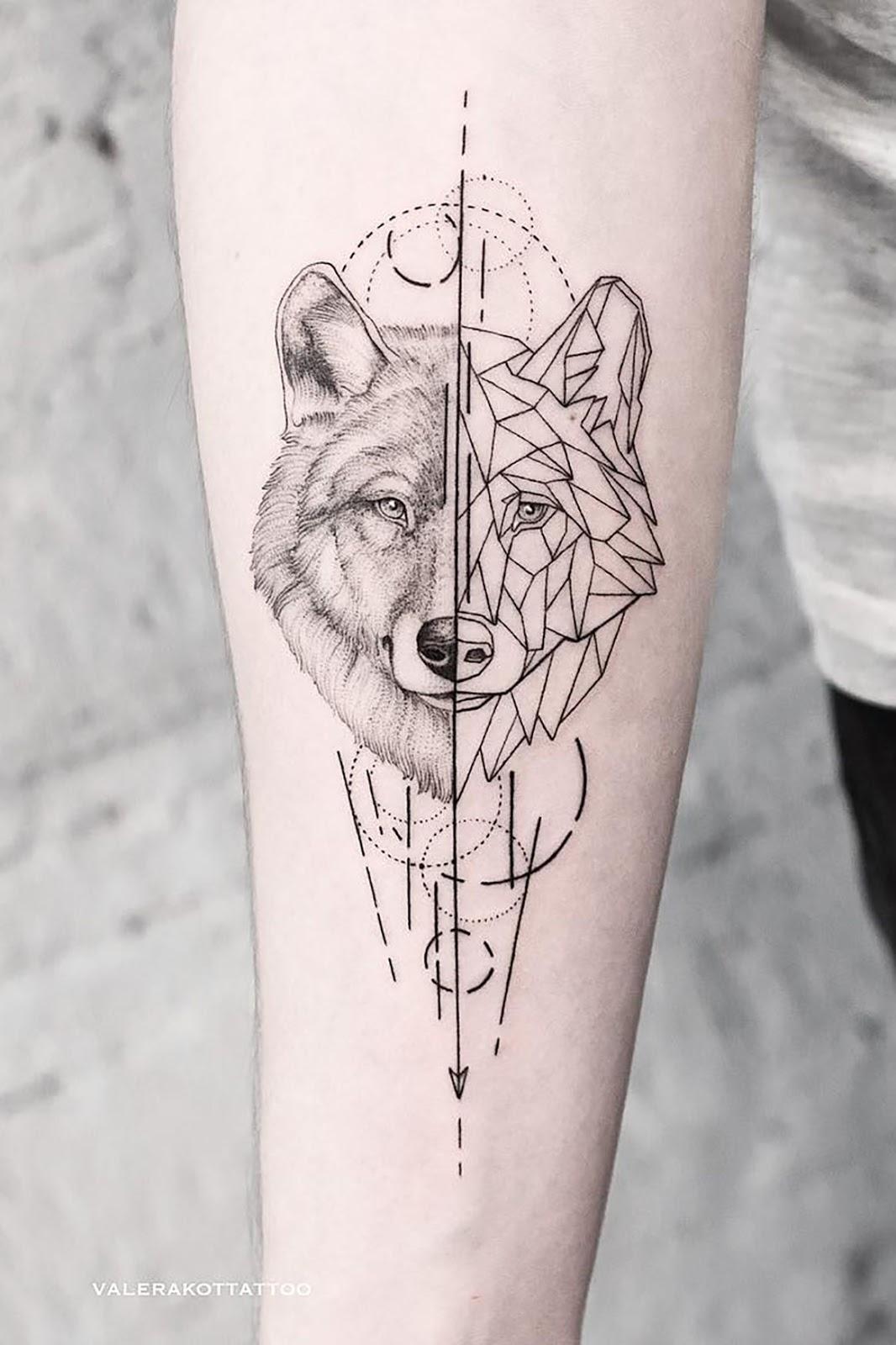 Minimalist Geometric Tattoos (20)