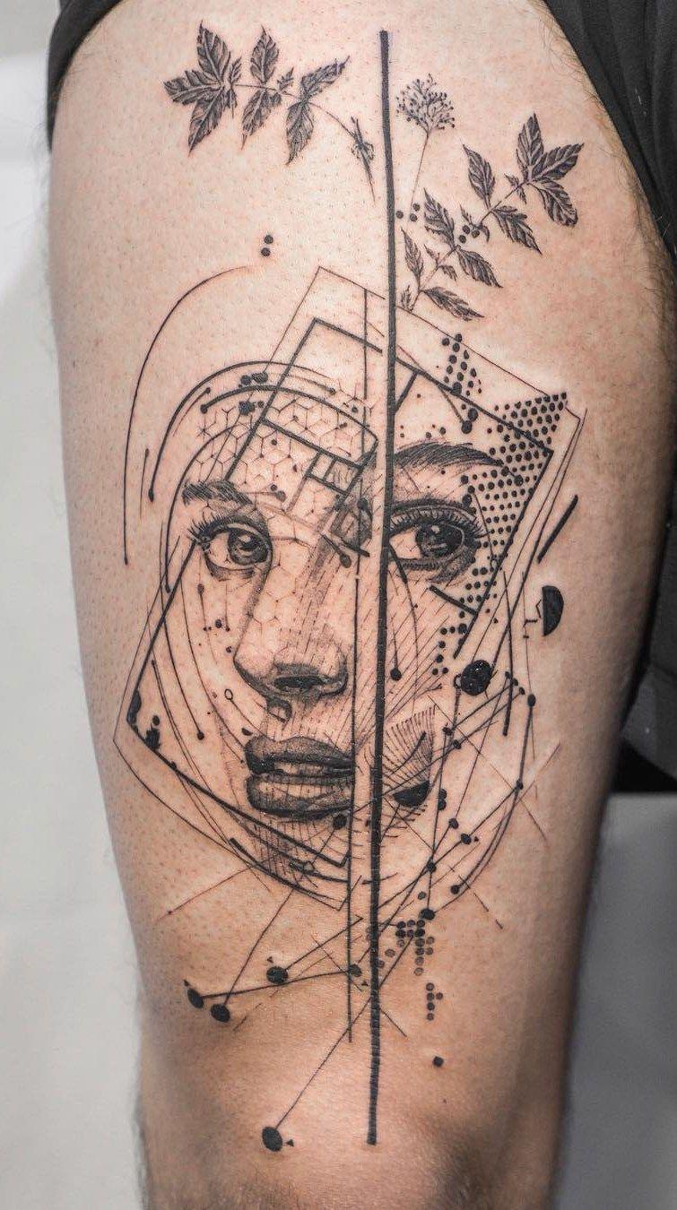 Nature Geometric Tattoo (11)
