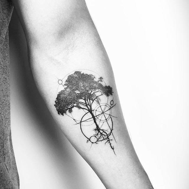 Nature Geometric Tattoo (2)